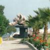 La escultura del beso en el Parque de Amor de Miraflores, Lima, Peru