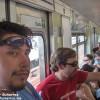 En el Metro de Sao Paulo, Brasil