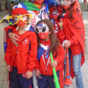 Chilean supporters ready for Chile's World Cup match