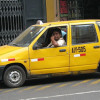 A yellow taxi in Lima, Peru