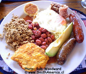 Bandeja Paisa - a typical