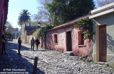 """Calle de los Suspiros (""""Street of Sighs"""") in Colonia, Uruguay"""