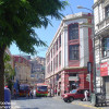 A street in downtown Valparaiso, Chile.