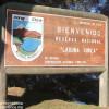 Reserva Nacional Laguna Torca Sign