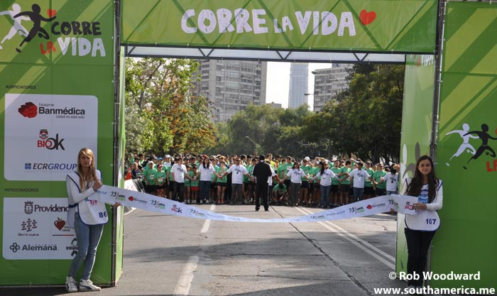 The start of the Corre la vida 7km Run