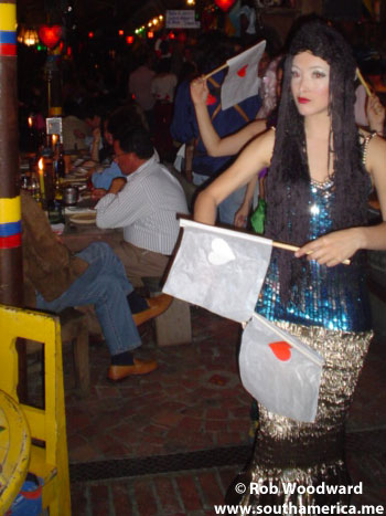 Andrés Carne de Res Lady with flags