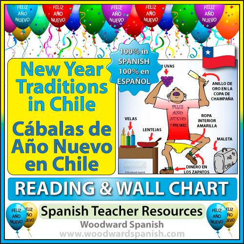 Spanish Teacher Resource - New Year Traditions in Chile