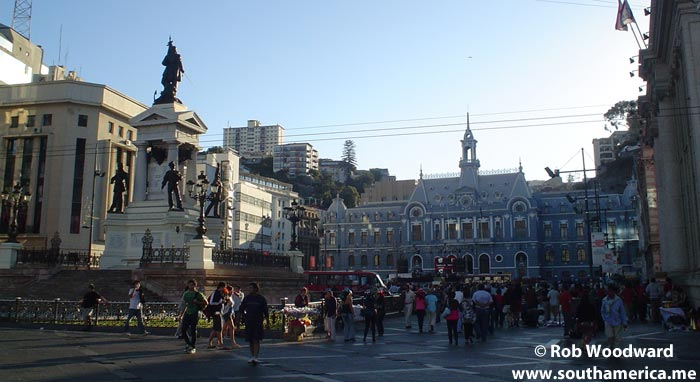 Plaza Sotomayor Valparaiso, Chile - Getting ready for the New Year Celebrations