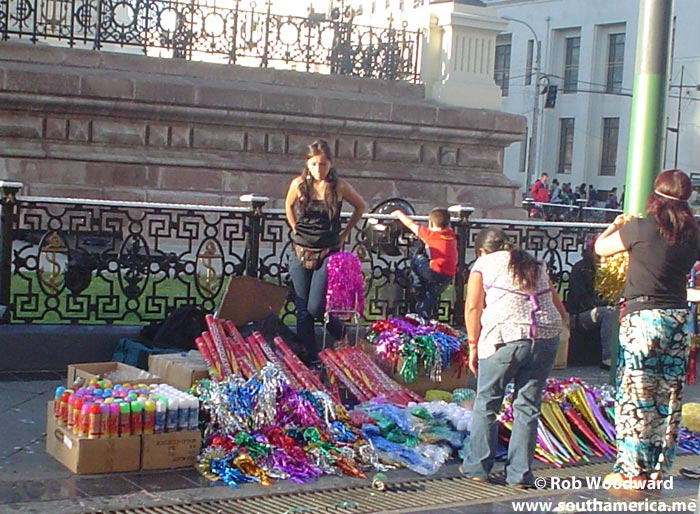 Selling on the street in Valparaiso for the New Year Celebrations