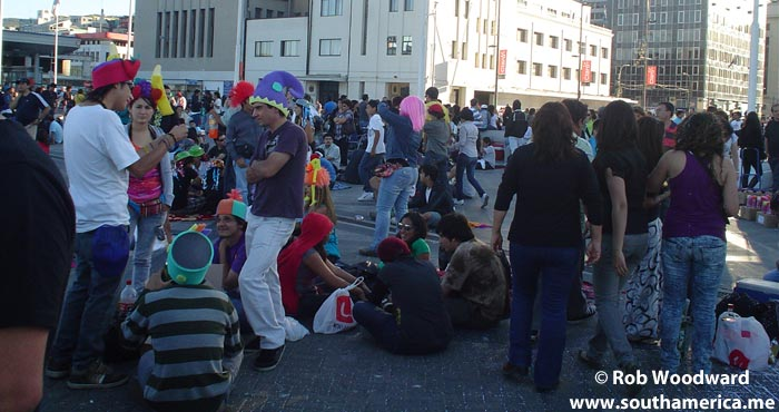 Waiting for the New Year Celebrations in Valparaiso, Chile