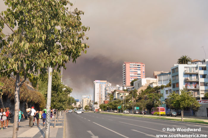 The Forest Fire Cloud as seen from Viña del Mar
